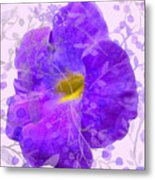 Purple Morning Glory With Pattern Metal Print