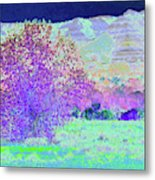 Purple Tree Reverie Metal Print