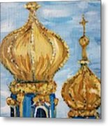 Pushkin Palace Towers Metal Print