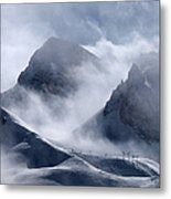 Pyramide And Roc Merlet In Courchevel Metal Print