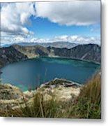 Quilotoa Crater Lake Metal Print