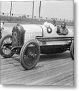 Racecar At Sheepshead Bay Track Metal Print