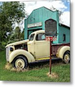 Radiator Shop Metal Print