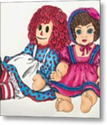 Raggedy Ann And Friend  Metal Print
