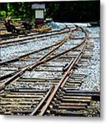 Railroad Siding Tracks Metal Print