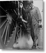 Railwayman Metal Print