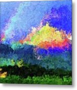 Rainbow Mountain - Breaking The Gridlock Of Hate Number 5 Metal Print