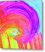 Rainbow Shell Metal Print