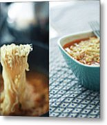 Ramen Noodles Diptych Metal Print