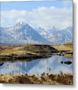 Rannoch Moor In Winter Metal Print