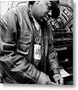 Rapper Notorious B.i.g., Aka Biggie Metal Print
