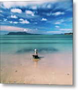 Raspins Beach In Orford On The East Coast Of Tasmania. Metal Print