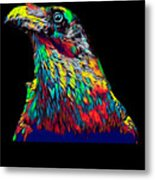 Raven Head Weird Bird Lucky Vintage Design Metal Print