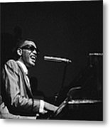 Ray Charles Behind The Scence At The Metal Print