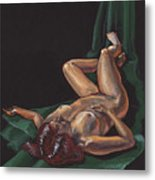 Reclining Nude Model Foreshortening Study Metal Print