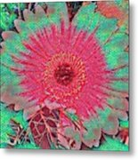 Red And Green Bloom Metal Print