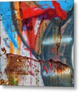 Red Blue Graffiti Abstract Square 2 Metal Print