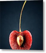 Red Cherry Still Life Metal Print