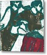 Red Detachment Of Women Painting Metal Print