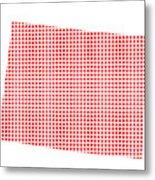 Red Dot Map Of Colorado Metal Print