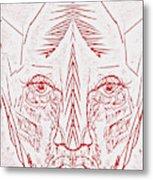 Red Face Metal Print