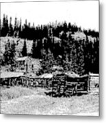 Red Lion Ghost Town Montana Metal Print