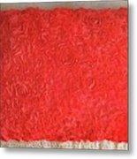Red Pillow, Decorative. Ameynra Home Decor Metal Print