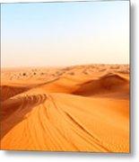 Red Sand Arabian Desert Near Dubai Metal Print