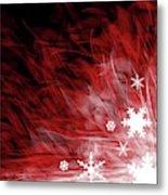 Red Snowflake Metal Print