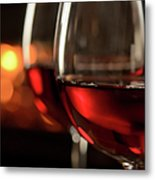 Red Wine By The Fire Metal Print