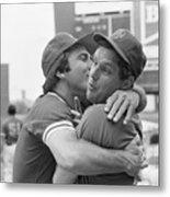 Reds Johnny Bench Kissing Mets Tom Metal Print
