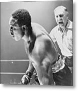 Referee Counting As Boxer Archie Moore Metal Print