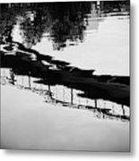 Reflected Bridge Metal Print