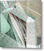 Reflected Modern Architecture - Winding Metal Print