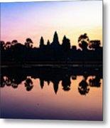 Reflections Of Angkor Wat - Siem Reap, Cambodia Metal Print