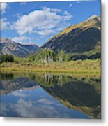 Reflections Of The Sawatch Range In The Autumn Metal Print