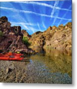 Reflections On The Colorado River Metal Print