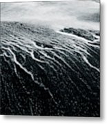Remains Of A Wave Metal Print