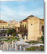 Remains Of The Roman Agora And Tower Of The Winds In Athens Metal Print