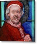 Rembrandt Santa Metal Print