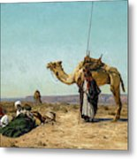 Rest In The Syrian Desert, 19th Century Metal Print