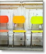 Restful Colours Metal Print