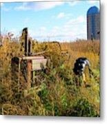 Retired John Deere Tractor 2 Metal Print