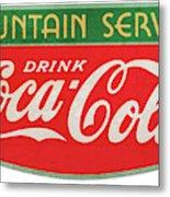Retro Coke Sign Metal Print