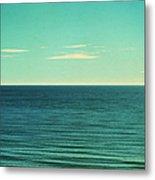 Retro Seascape Postcard Metal Print