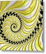 Ribbed Yellow Spiral Metal Print