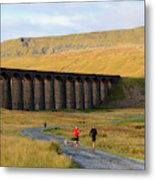Ribblehead Viaduct In Late Autumn North Yorkshire Metal Print