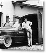Richard Burton With Cadillac Metal Print