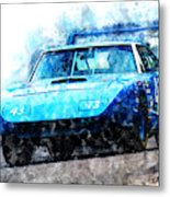 Richard Petty Superbird Metal Print