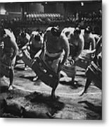 Ring Dance Performed By Sumo Wrestlers Metal Print